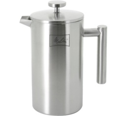 Cafeti�re � piston Melitta Deluxe double paroi inox 8 tasses