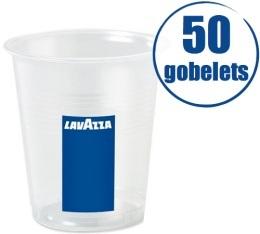 50 Gobelets plastiques transparents 10 cl Lavazza