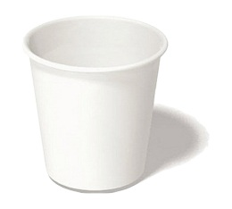 100 gobelets café carton blanc - 12 cl