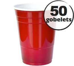 50 gobelets américains rouges - 50 cl (red cups officiel)