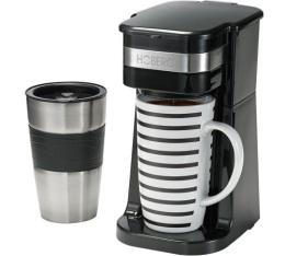 Cafeti�re filtre mug Hoberg Caf�-Boxx noire + mug isotherme + offre cadeaux