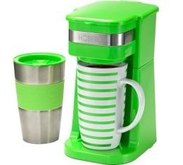 Cafetière filtre mug Hoberg Café-Boxx verte + mug isotherme + offre cadeaux