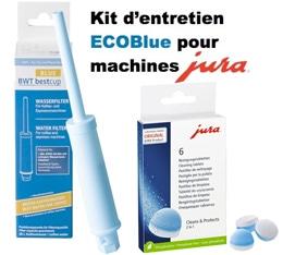 Kit Entretien ECO pour Jura  (cartouche filtrante et pastilles d�tergentes) - Compatible Claris Blue