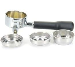 Porte-filtre laiton 2 becs 57mm + 3 filtres (1 tasse, 2 tasses, ESE) pour machine expresso Lelit
