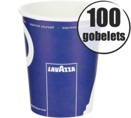 100 gobelets en carton 27cl Lavazza