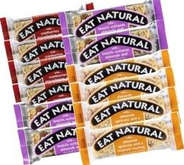 Offre découverte 12 barres gourmandes Eat Natural - 4 x 3 saveurs