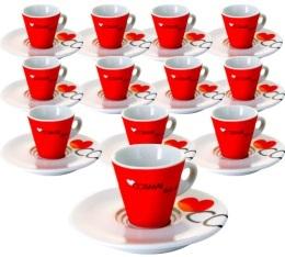 Lot de 12 tasses et sous-tasses expresso 5 cl - Cosma� Caff�