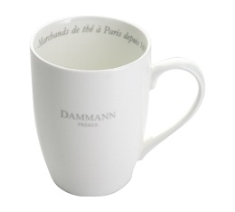 Lot 6 mugs en porcelaine blanche - Dammann Fr�res