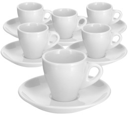 6 tasses expresso et sous-tasses 5 cl - Sant Pancra�