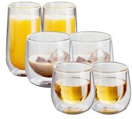 Lot de 6 verres double paroi (7,5cl+25cl+33cl) Judge