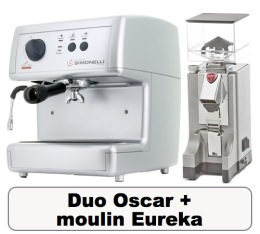 Lot Oscar argent Nuova Simonelli + Moulin � caf� Eureka