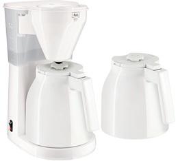 Cafeti�re filtre Melitta Easy Therm 1010-051 blanche + 2ieme verseuse + offre cadeaux
