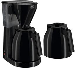 Cafetière filtre Melitta Easy Therm 1010-061 noire avec 2eme verseuse + offre cadeaux