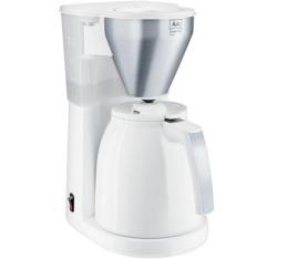 Cafeti�re filtre Melitta Easy Top Therm 1010-07 blanc/acier bross� + offre cadeaux