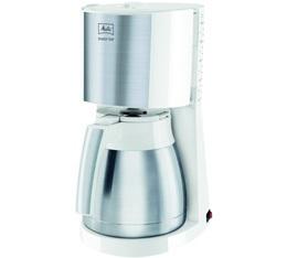 Cafeti�re filtre Melitta Enjoy Top Therm 1017-07 blanc et acier bross� + offre cadeaux