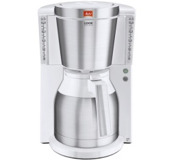 Cafetière filtre Melitta Look IV Therm Deluxe 1011-13 Blanc/acier brossé + offre cadeaux