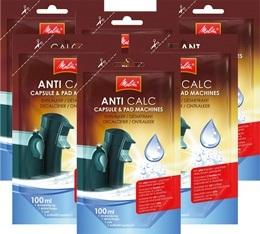 6 D�tartrants Melitta Anti calc unidose liquide pour machines � capsules et dosettes - 100ml