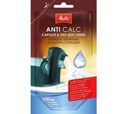 D�tartrant Melitta Anti calc unidose liquide pour machines � capsules et dosettes - 100ml