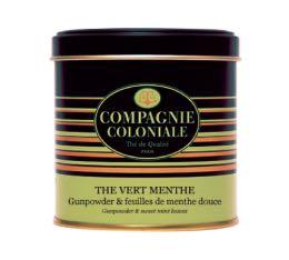 Boite Compagnie Coloniale Thé Vert Menthe - 150 gr