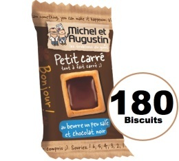 Biscuit Petit Carré au Beurre et Chocolat Noir - Michel & Augustin X180