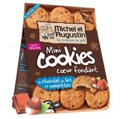 Mini cookies coeur fondant au lait et � la noisette - Michel et Augustin