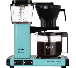 Cafeti�re filtre Moccamaster KBG741 Bleu Lagon 1.25L + offre cadeaux