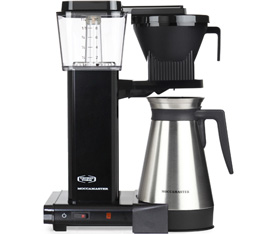 Cafetière filtre Moccamaster KBGT noire avec verseuse isotherme 1.25L + Offre Cadeaux
