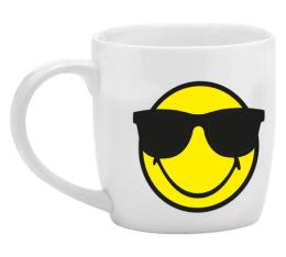 Mug Smiley blanc cool en porcelaine 35cl - Zak!Design