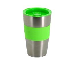 Mug isotherme inox/vert - 450 ml - Caf� BoXX