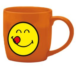 Mug Smiley corail gourmand en porcelaine 7.5cl Zak!Design