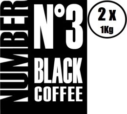2 x Café en grains Number N°3 Black Coffee 100% Arabica - 1Kg