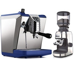 Machine expresso Oscar II bleue Nuova Simonelli + Moulin Espressions Grinder EP0700