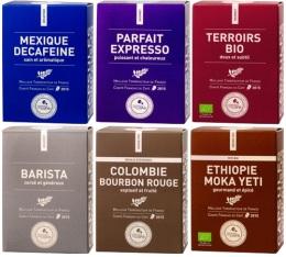 Pack d�couverte Terres de caf� - 60 capsules pour Nespresso
