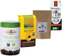 Pack Bio (Exclusivité MaxiCoffee) : 4 cafés moulus x 250g