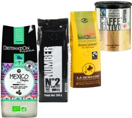 Pack Bio (Exclusivit� MaxiCoffee) : 4 caf�s en grains x 250g