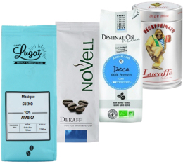 Pack Décaféiné (Exclusivité MaxiCoffee) : 4 cafés en grains x 250g