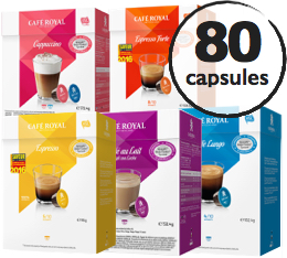 Pack d�couverte - 80 capsules Dolce Gusto� compatibles Caf� Royal