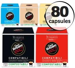 Pack découverte - 80 capsules Lavazza a Modo Mio® compatibles Caffè Vergnano