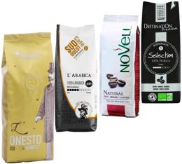 Pack Coup de Coeur Client (Exclusivité MaxiCoffee) : 4 cafés en grains x 250g