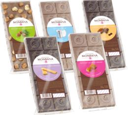 Pack de 5 tablettes au chocolat Monbana (5x100gr)