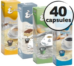 S�lection d�couverte 40 Capsules Caffitaly (100% Arabica et D�caf�in�)