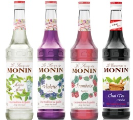 Pack d�couverte Sirops Monin (Mojito, Violette, Framboise, Th� Cha�) - 4x70cl