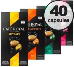 Pack d�couverte - 40 capsules Caf� Royal pour Nespresso