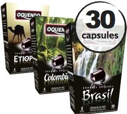 Pack découverte Oquendo - 30 capsules pour Nespresso