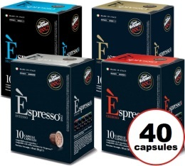 Pack d�couverte Caff� Vergnano - 40 capsules pour machines Caffe Vergnano
