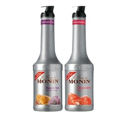 Pack découverte Smoothie Fruit de Monin (Fruit de la Passion et Fraise) - 2x1L