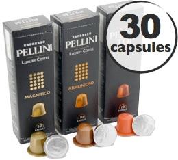 Pack d�couverte Pellini - 30 capsules pour Nespresso