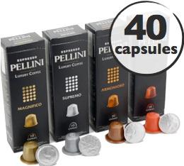 Pack d�couverte Pellini - 40 capsules pour Nespresso
