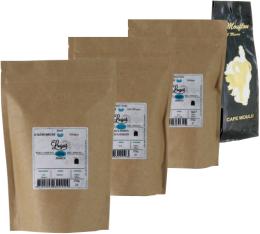 Pack Torréfaction Artisanale (Exclusivité MaxiCoffee) : 4 cafés moulus x 250g