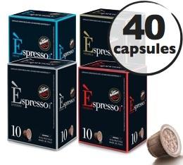 Pack découverte Caffè Vergnano - 40 capsules pour Nespresso